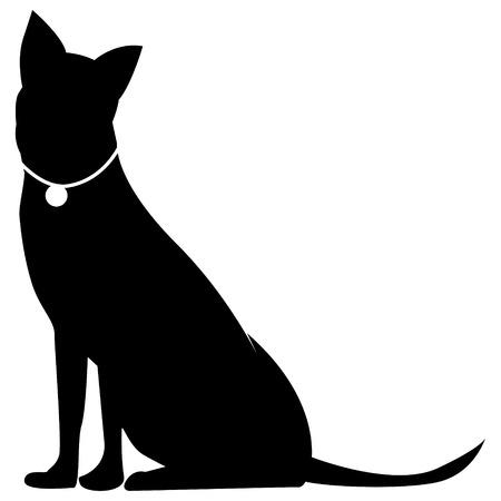 calm down: Dog silhouette