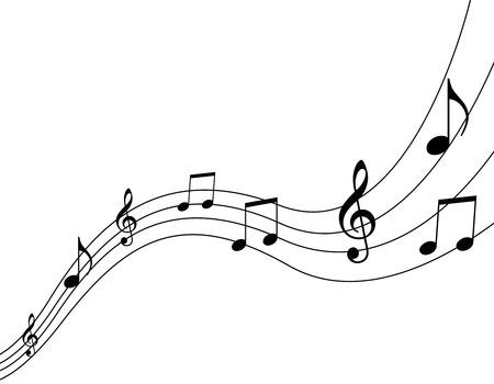 Notas de la música  Ilustración de vector