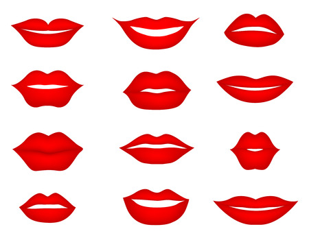 Labios fijados. elemento de diseño