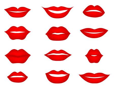 Lips set. design element