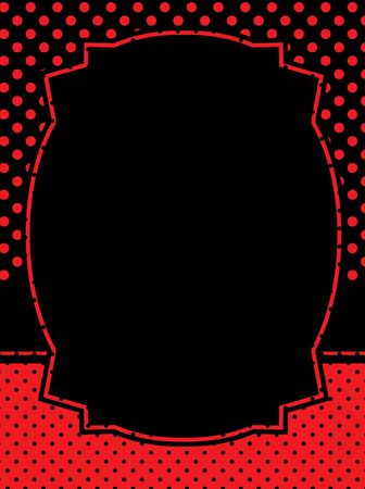 lady bug: Red and black polka dots frame  lady bug theme polka background Illustration