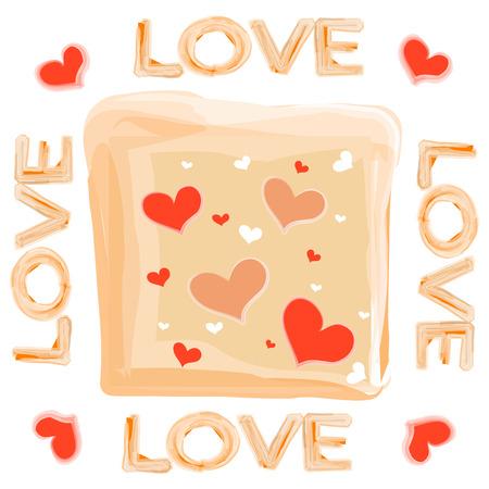 background designs: Love background for t shirt designs Illustration