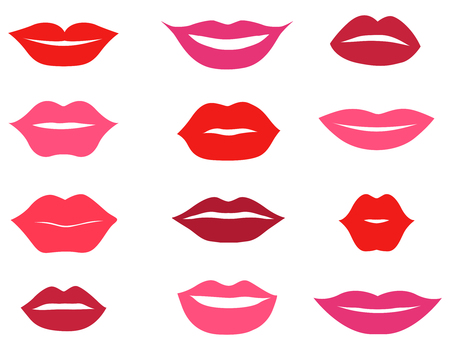 smile close up: Lips set. design element
