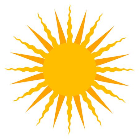 sun burst: Yellow Sun burst icon isolated on background. Modern simple flat  sign. Business internet concept. vector summer symbol for website design web button mobile app. vector illustration