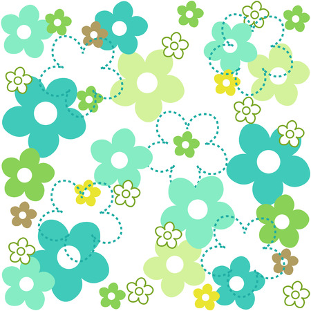 specially: Cute Floral seamless pattern collection specially for spring wallpapers Illustration