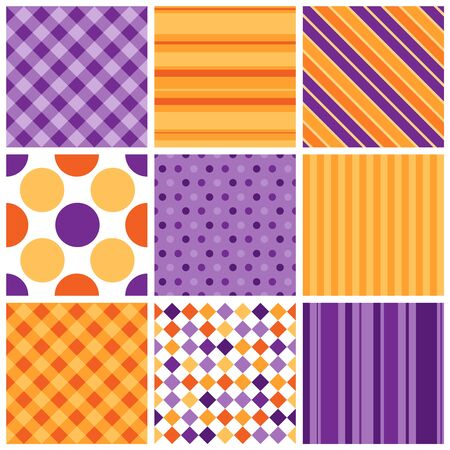 Elegant pattern collection. Web background pattern set Illustration