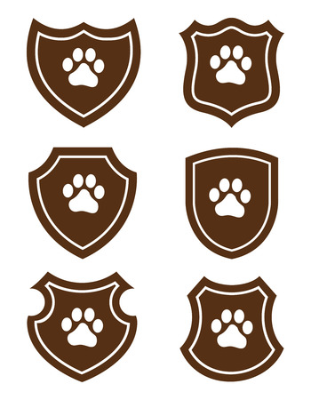 pawprint: Pawprint grunge web icons  banners
