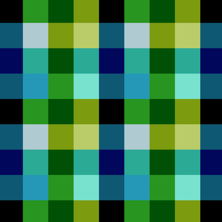 blue green background: Plaid  gingham pattern  texture Illustration