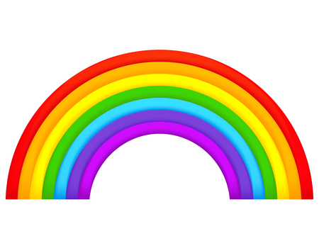 natural arch: Colorful rainbow isolated on white background Illustration