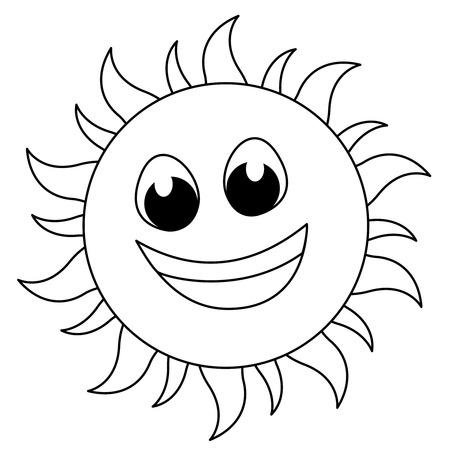 Sol Típico O Icono Soleado Conjunto Con Rayos De Sol