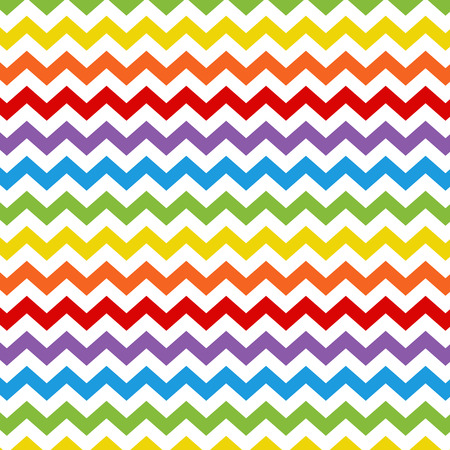 colorido color del arco iris del zigzag del fondo del modelo del galón.