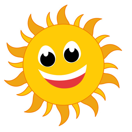 Icono de ráfaga de Sun amarillo aislado en el fondo. Signo plano simple moderno. Concepto de internet de negocios. vector símbolo de verano para la aplicación móvil de botón web de diseño de sitio web. Ilustración vectorial