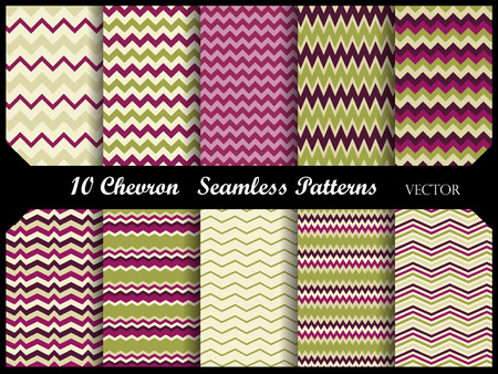 colorful zigzag chevron pattern collection