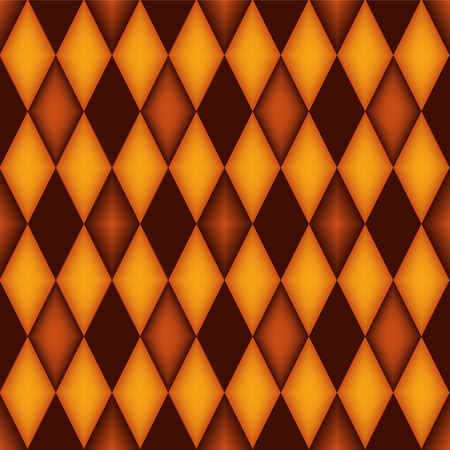 Seamless argyle pattern with 3d effect  diamond shaped background