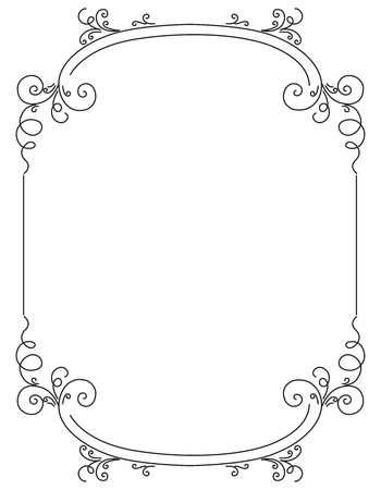 old frame: Vector image decorative ornamental frame