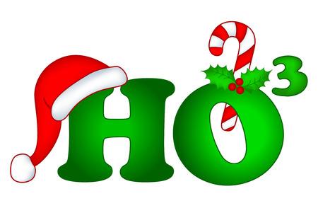 ho: Ho3 decorative christmas text ho ho ho merry christmas