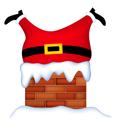 Funny Santa Stuck in Chimney
