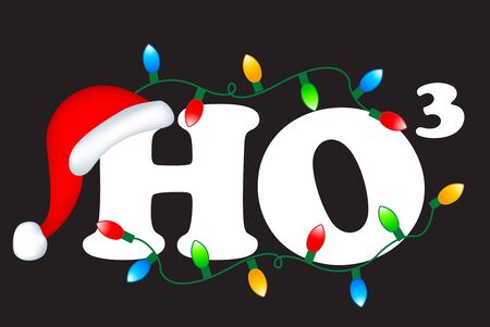 Ho3 decorative christmas text ho ho ho merry christmas