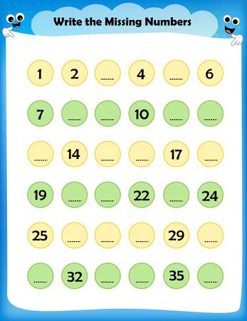 Kids Worksheet Write The Missing Numbers Maths Worksheet For