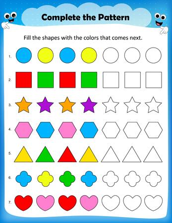 worksheet: Kids worksheet - complete the pattern