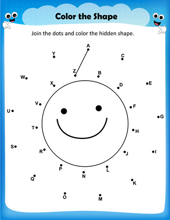 preschool child: worksheet - join the dots  and color the picture worksheet for preschool kids