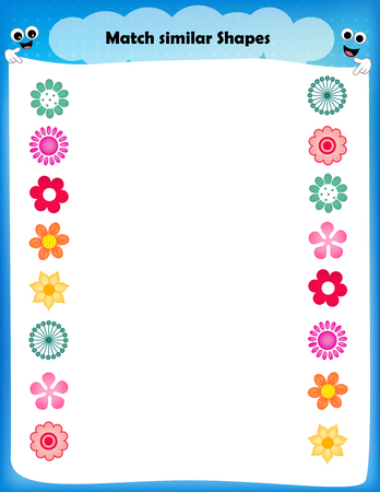 similar: worksheet - match similar shapes worksheet for preschool kids