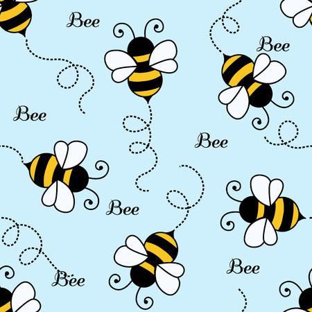 Bee pattern background . seamless pattern Ilustrace