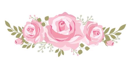 어머니의 날 카드, 결혼식 또는 신부 샤워 초대장에 대 한 아름 다운 핑크 장미 boquet