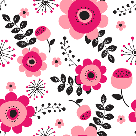 Spring flowers seamless pattern Small floral pattern floral illustration and floral vector pattern flower pattern fabric  イラスト・ベクター素材