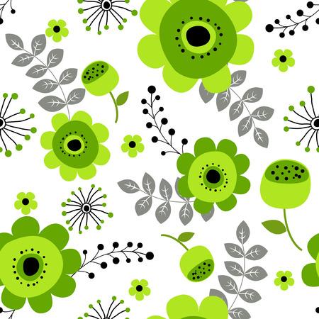 春花のシームレス パターン小花柄花のイラストと花のベクトル パターン ・ フラワー パターン生地