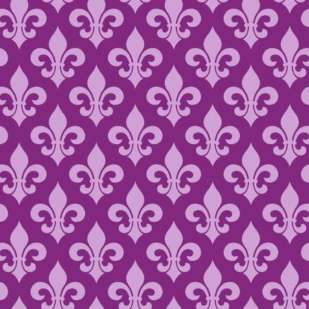 Vector illustration seamless background with lily (fleur de lis) for print fabric or poster