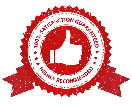 100% customer satisfaction guaranteed  grunge seal  stamp Illustration