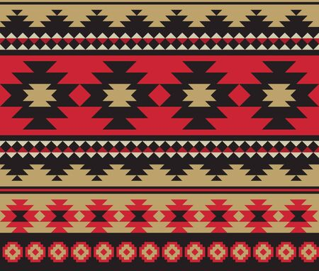 Seamless ethnic aztec pattern design. vector illustration