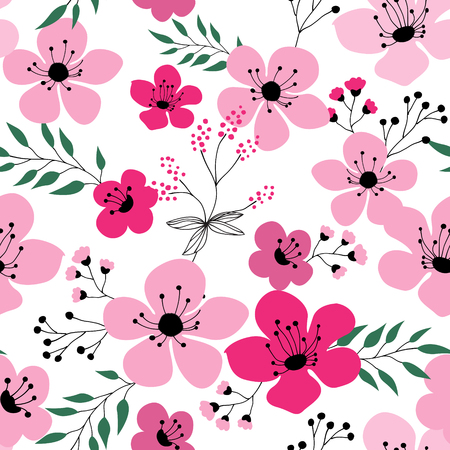 Spring flowers seamless pattern Small floral pattern floral illustration and floral vector pattern flower pattern fabric Stock Illustratie
