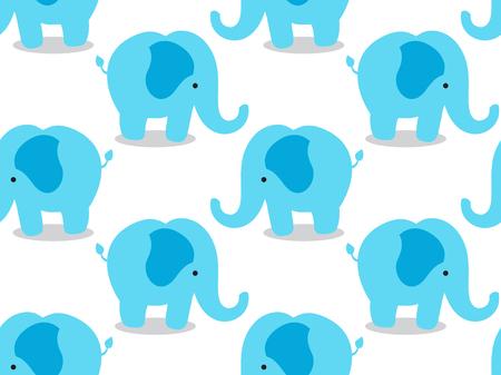 코끼리 원활한 패브릭 패턴 일러스트
