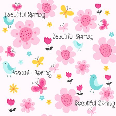 봄 꽃 원활한 패턴 작은 꽃 패턴 꽃 그림 및 꽃 벡터 패턴 꽃 패턴 패브릭 일러스트