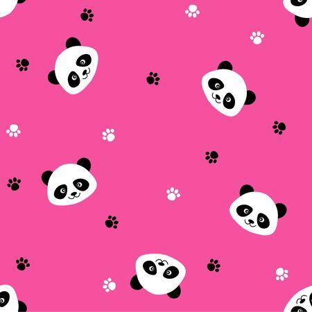 seamless panda mignon dessin animé