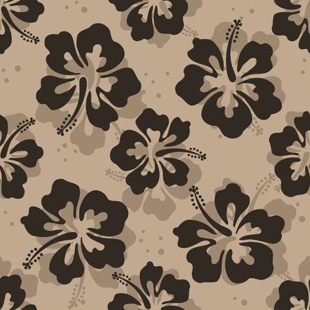 히비스커스 꽃으로 반복되는 반복 패턴
