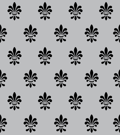 Vector illustration seamless background with lily (fleur de lis) for print fabric or poster Vektoros illusztráció