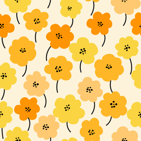 Spring flowers seamless pattern Small floral pattern floral illustration and floral vector pattern flower pattern fabric Иллюстрация
