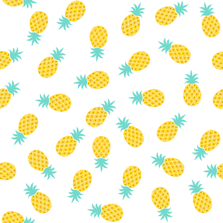 Seamless pineapple pattern  cute pineapple doodle pattern for textile fabric or wallpaper backgrounds Illustration