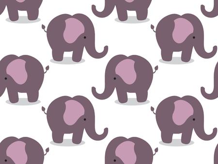 Elephants seamless fabric pattern