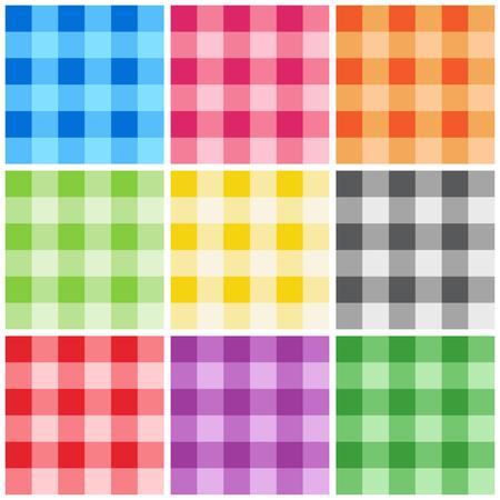 깅 검 패턴  질감 추수 감사절 집 장식 냅킨 식탁보 피크닉 예술 공예품 및 스크랩 책에 대 한 다양 한 색상.
