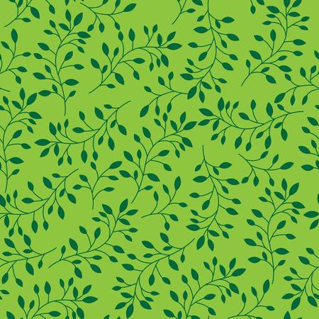아름다운 나뭇잎 원활한 패턴