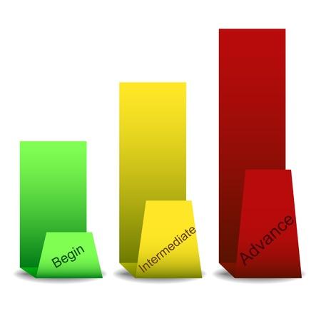 Step paper progress tags,  illustration Stock Vector - 17698868