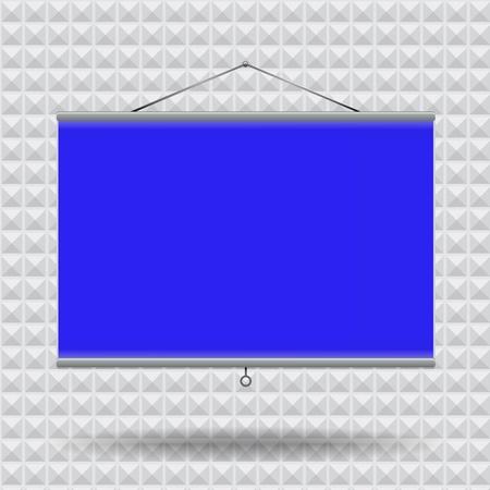 Meeting room screen projector on pyramid wallpaper,  illustration Stock Vector - 17698872
