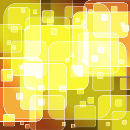 Round rectangle bokeh on yellow gradient background, vector illustration Stock Vector - 17852176