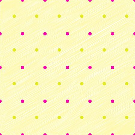 Simplicity dots on yellow pastel scribbled texture, vecture illustration Stock Vector - 17852175