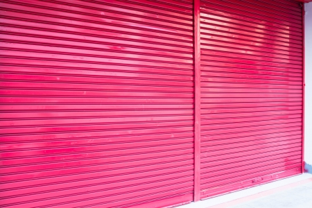 Roller metal door for car elevator of building photo