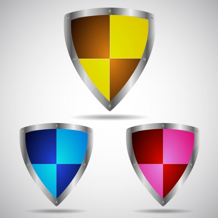 Set of security shield symbol icon, illustration Stock Vector - 20087669